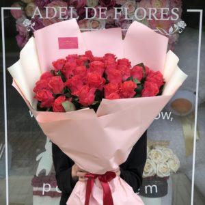 duże bukiety róż